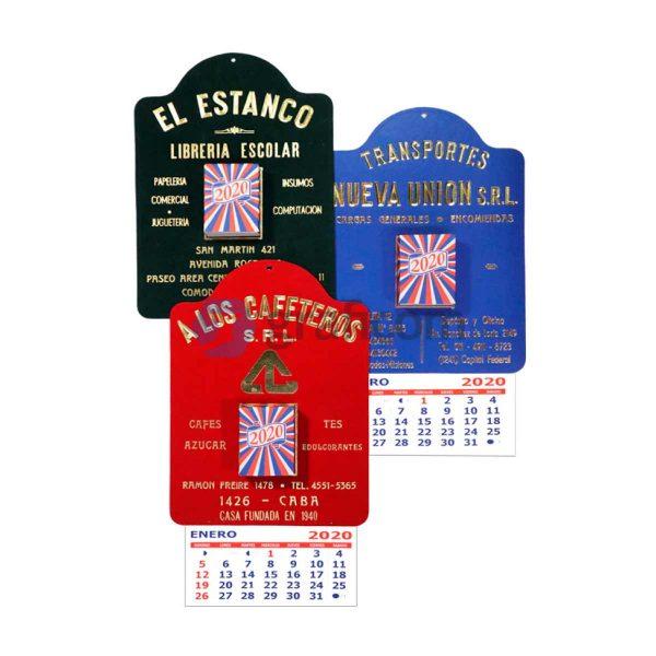 Almanaque Peuser Felpa De Taco Grabado A Fuego Personalizado